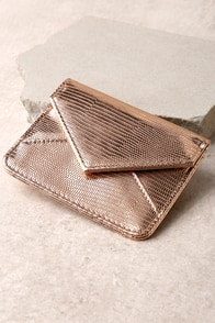 Money Honey Rose Gold Card Case