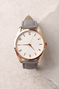Infinity Rose Gold and Grey Watch
