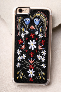 Zero Gravity Laurel Black Embroidered iPhone 6 and 6s Case