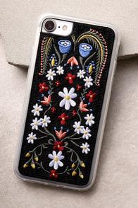 Zero Gravity Laurel Black Embroidered iPhone 7 Case