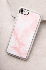 Zero Gravity Blush Pink Marble iPhone 7 Case