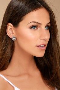 Akasha Gold Rhinestone Earrings