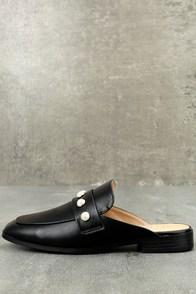 Winona Black Pearl Loafer Slides