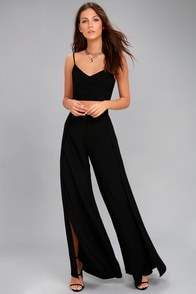 Out Tonight Black Two-Piece Jumpsuit