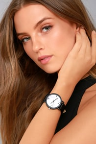 In The Present White Marble Watch