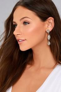 Invoke Love Gold Rhinestone Earrings