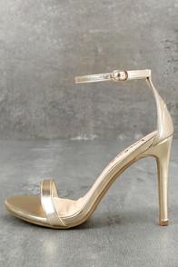 Loveliness Gold Ankle Strap Heels