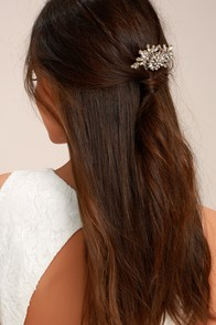 Peak of Perfection Gold Rhinestone Hair Comb