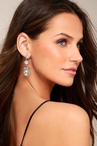 True Affection Gold Rhinestone Earrings