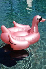 Ankit Oversized Swan Rose Gold Pool Float