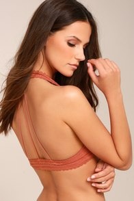 Wild Thoughts Rusty Rose Lace Bralette