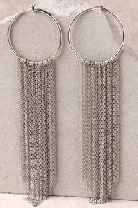 In the Light Silver Chain Earrings