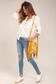 Adabelle Light Wash Distressed Skinny Jeans