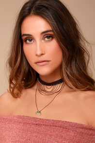 Wilderness Gold and Brown Choker Necklace