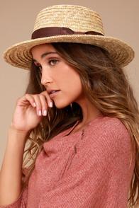 Rhythm Coast Brown and Beige Straw Hat