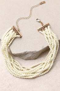 Get Glam Gold and Pearl Choker Necklace