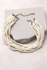 Into the Glitz Pearl Layered Choker Necklace