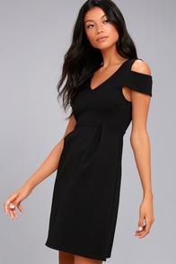 Black Swan Vera Black Cold Shoulder Dress