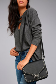 Believe in Chic Black Studded Purse