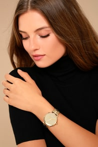 In The Present Beige Marble Watch