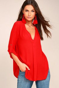 Savvy Sweetheart Red Top