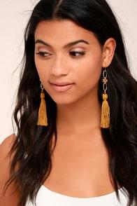 Vanessa Mooney Faith Gold Tassel Earrings