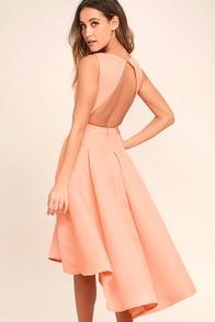 Paso Doble Take Blush Pink High-Low Dress