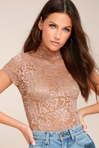 Hush Hush Blush Lace Bodysuit