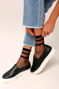 Sole-mates Sheer Black Socks