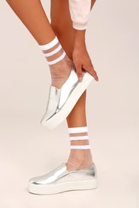 Sole-mates Sheer White Socks