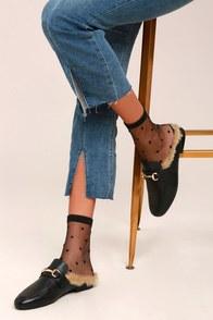 Softer Side Sheer Black Socks