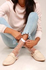 Softer Side Sheer White Socks