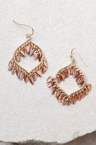Botanical Babe Rose Gold Earrings