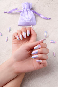 Static Nails Doe Lavender All In One Pop-On Manicure Kit