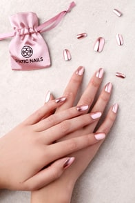 Static Nails Rose Gold Edit All In One Pop-On Manicure Kit