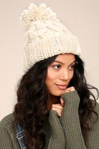 San Diego Hat Co. Marshmallow White Knit Beanie