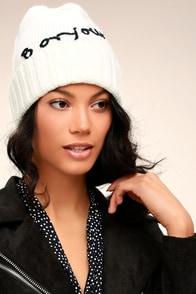 San Diego Hat Co. Bonjour White Beanie