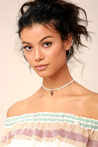 Desert Days Rose Gold and White Choker Necklace