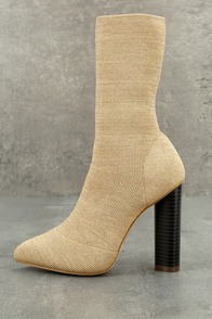 Emmaline Natural Knit Mid-Calf Boots