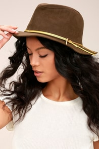 San Diego Hat Co. Seasons Brown Suede Fedora Hat