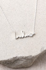 Love Lulus Sterling Silver Necklace