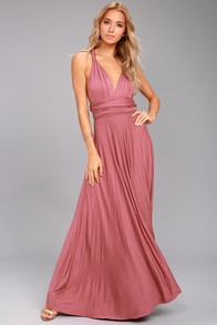 Tricks of the Trade Rusty Rose Maxi Dress