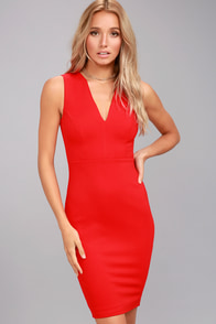 Quite Spectacular Red Bodycon Dress