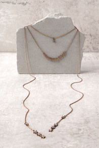 Bright Night Gold Layered Necklace