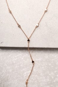 Brilliant Spark Rose Gold Drop Necklace