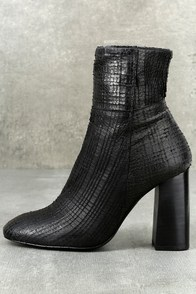 Free People Nolita Black Leather Ankle Booties