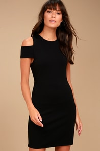 BB Dakota Diem Black Cold Shoulder Dress