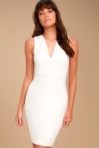 Quite Spectacular Ivory Bodycon Dress at Lulus.com!