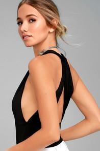 Hot-Cha-Cha Black Bodysuit