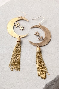 In the Stars Gold Earrings